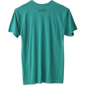 KAVU Stripe Set T-Shirt Herre Evergreen